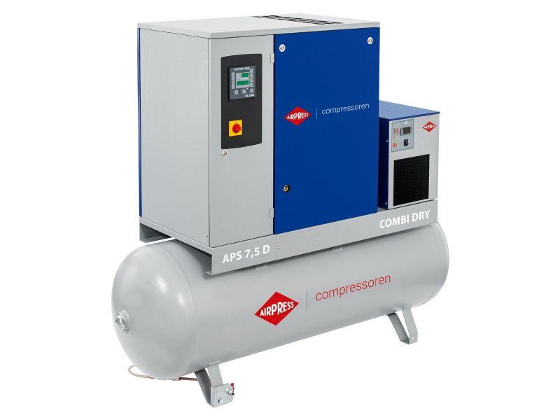 Schraubenkompressor APS 7.5D Combi Dry 10 bar 7.5 PS/5.5 kW 670 l/min 500 l