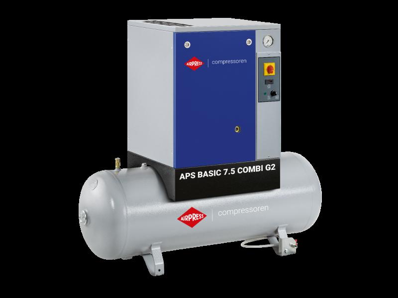 Schraubenkompressor APS 7.5 Basic G2 Combi 10 bar 7.5 PS/5.5 kW 780 l/min 200 l