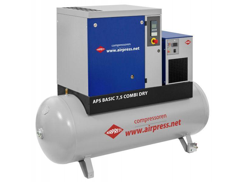 Schraubenkompressor APS 7.5 Basic Combi Dry 10 bar 7.5 PS/5.5 kW 690 l/min 500 l