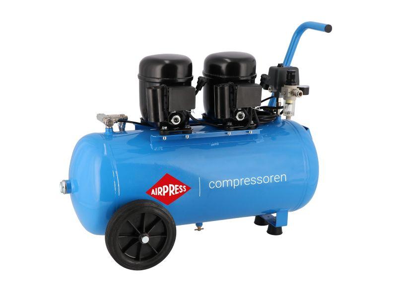 Flüsterkompressor L 100-50 8 bar 1 PS/0.74 kW 80 l/min 50 l