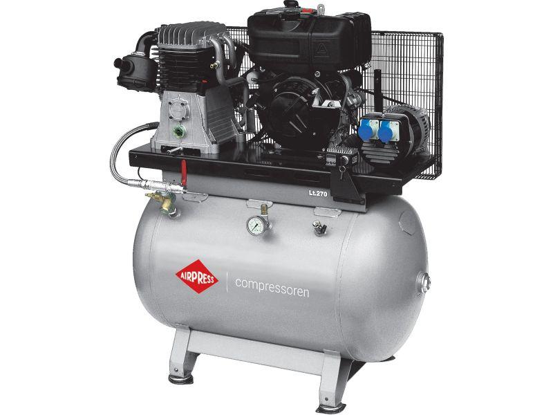 Baustellenkompressor DSL 270-540 Diesel 230V 14 bar 11 PS/8.1 kW 444 l/min 270 l