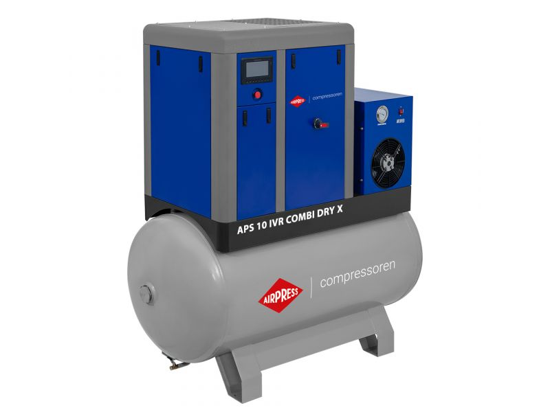 Schraubenkompressor APS 10 IVR Combi Dry X 10 bar 10 PS/7.5 kW 270-950 l/min 500 l