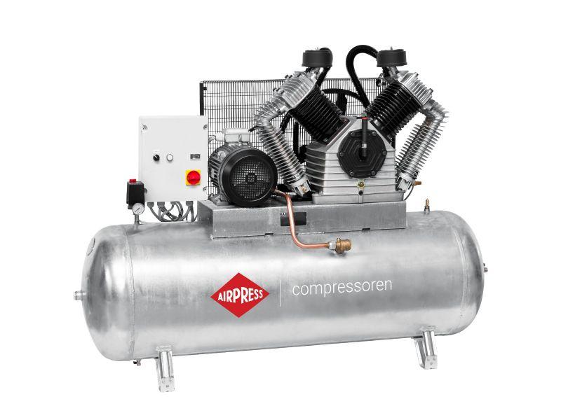 Kompressor G 2500 500 SD Pro 11 bar 20 PS/15 kW 1700 l/min 500 l galvanisierter mit Stern Dreieck Schaltung