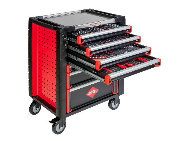 Werkstattwagen PRO mit Sortiment 217 Teile 7 Schubladen