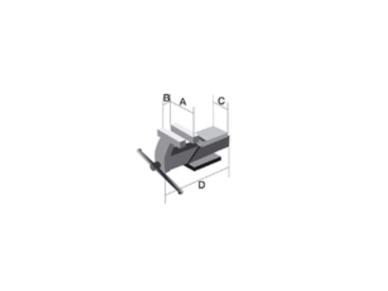 Schraubstock Stahl 6