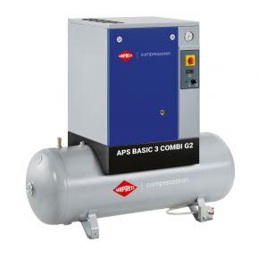 Schraubenkompressor APS 3 Basic G2 Combi 10 bar 3 PS/2.2 kW 294 l/min 200 l