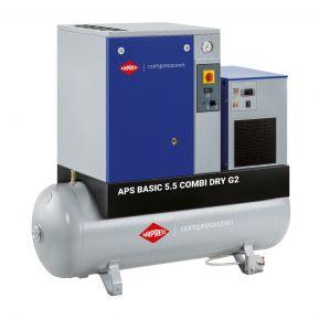 Schraubenkompressor APS 5.5 Basic G2 Combi Dry 10 bar 5.5 PS/4 KW 516 l/min 200 l
