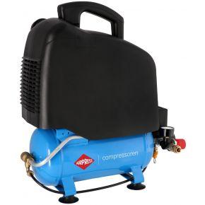 Flüsterkompressor Ölfrei LMO 6-165 8 bar 1 PS/0.75 kW 132 l/min 6 l