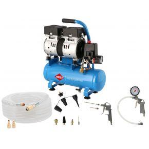 Flüsterkompressor Ölfrei L 6-105 8 bar 0.6 PS/0.45 kW 25 L/Min 6 l Plug & Play