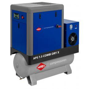 Schraubenkompressor APS 7.5 Combi Dry X 10 bar 7.5 PS/5.5 kW 690 l/min 200 l