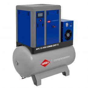 Schraubenkompressor APS 15 IVR Combi Dry X 10 bar 15 PS/11 kW 380-1410 l/min 500 l