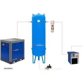 Schraubenkompressor Set APS 10 X IVR / 500 / 12