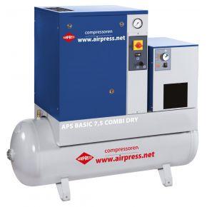 Schraubenkompressor APS Basic Combi Dry 10 bar 7.5 PS 600 l/min 200 l
