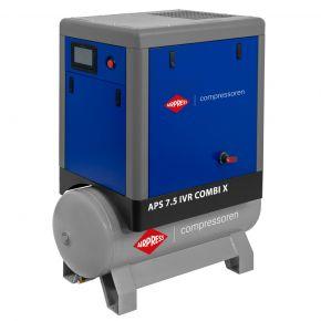 Schraubenkompressor APS 7.5 IVR Combi X 10 bar 7.5 PS/5.5 kW 170-690 l/min 200 l