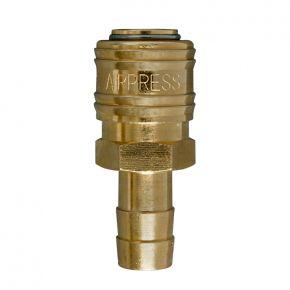 Druckluftkupplung Euro 12 mm mit Schlauchanschluss in Blister