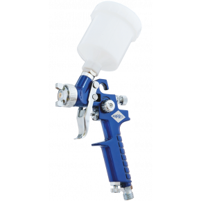 Mini Lackierpistole HVLP 2 bar 1.8 mm Düse 125 ml Fließbecher