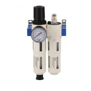 """Wartungseinheit Öl-/Wasserabscheider Druckminderer und Öler 3/8"""" 15 bar"""