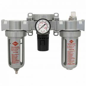 """Wartungseinheit Öl-/Wasserabscheider Druckminderer und Öler 1/4"""" 15 bar"""