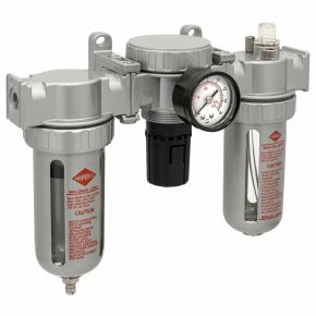 """Wartungseinheit Öl-/Wasserabscheider Druckminderer und Öler 1/2"""" 15 bar"""