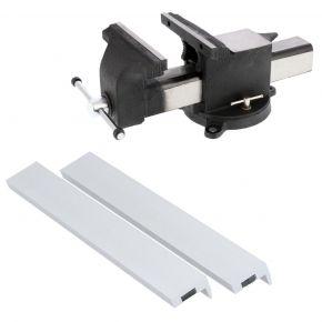 """Schraubstock Stahl 10"""" 250 x 265 mm mit Schutzbacken Aluminium 250 mm Plug&Play"""