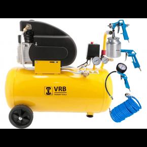 Günstiger Kompressor mit Zubehör LC50-2.0 VRB 8 bar 2 PS/1.5 kW 138 l/min 50 l Plug & Play