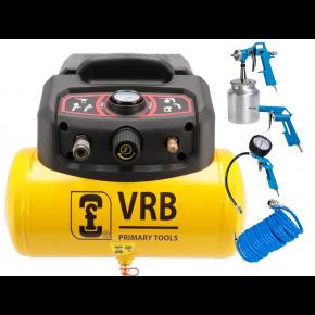 Günstiger Kompressor mit Zubehör LC6-1.5 VRB 8 bar 1.5 PS/1.1 kW 129 l/min 6 l Plug & Play