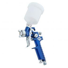 Mini Lackierpistole HVLP 2 bar 0.8 mm Düse 125 ml Fließbecher