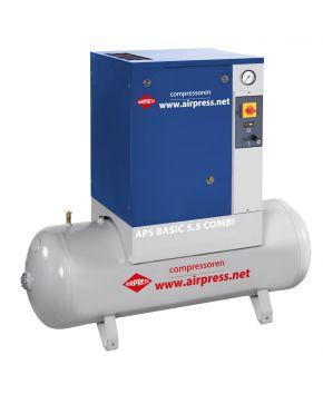 Schraubenkompressor APS 5.5 Basic Combi 10 bar 5.5 pk 470 l/min 200 l