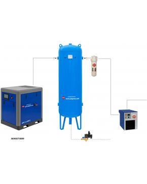 Schraubenkompressor Set APS 7.5 X IVR / 300 / 9