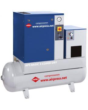 Schraubenkompressor APS Basic Combi Dry 10 bar 3 PS 240 l/min 200 l