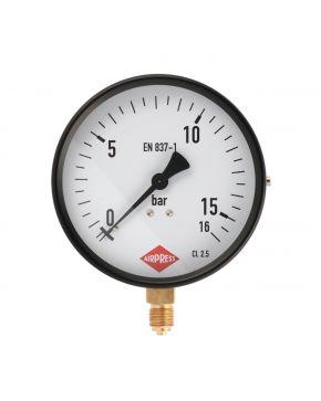 """Manometer 1/4"""" 16 bar anschluss unten 100 mm"""
