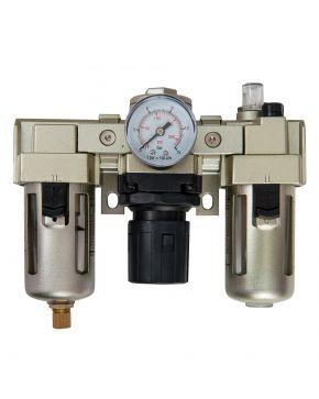 """Wartungseinheit Öl-/Wasserabscheider Druckminderer Öler 1/4"""" 10 bar 25 micron"""