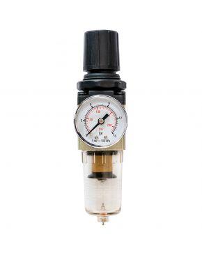"""Filterdruckminderer Öl-/Wasserabscheider und Druckminderer 1/2"""" 10 bar 25 micron"""