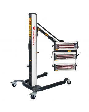 Infrarottrockner 3x1000 W mit Steuerung und Abstandssensoren