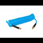Druckluft Spiralschlauch 7,5 m 5x8 mm 10 bar inkl Universalkupplung und Stecknippel