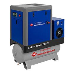 Schraubenkompresor mit Trockner und Druckluftbehälter