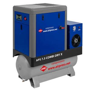 Schroefcompressor APS 7.5 Combi Dry X
