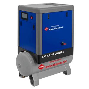 Schroefcompressor APS 7.5 IVR Combi X